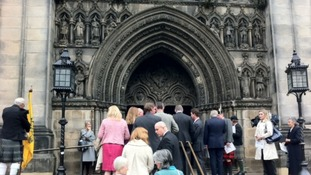 A service of commemoration was held this morning at St Giles Cathedral, Edinburgh.