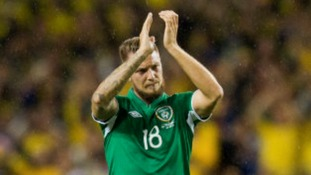 Norwich City's Anthony Pilkington made his debut for the Republic of Ireland in Friday's home defeat to Sweden