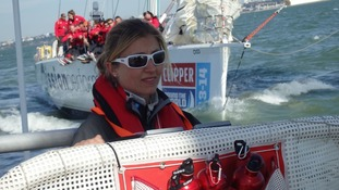 Skipper Vicky Ellis at the race 1 start