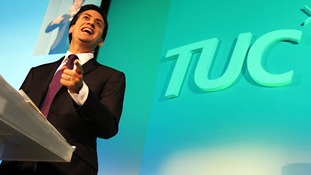 Ed Miliband addressing the TUC in 2011.