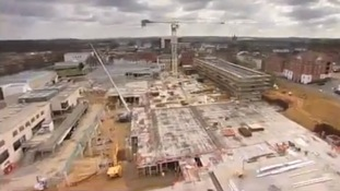 Retail buildingl site aerial