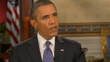 President Barack Obama gave interviews to six major US television networks yesterday.