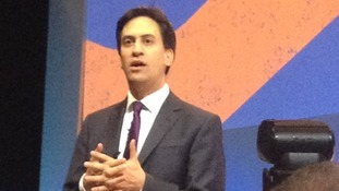 Labour leader Ed Miliband speaks to the TUC conference.
