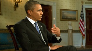 President Barack Obama made a series of US television interviews on Syria yesterday.
