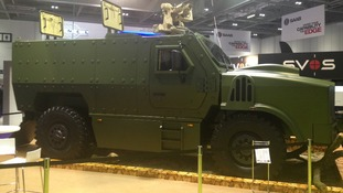 Armored vehicle on display