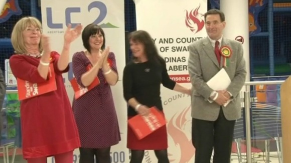 Labour celebrate in Newport