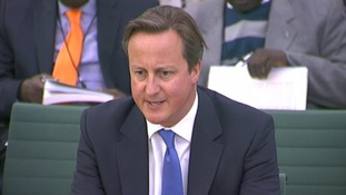 Prime Minister David Cameron speaking before the House of Commons Liaison Committee