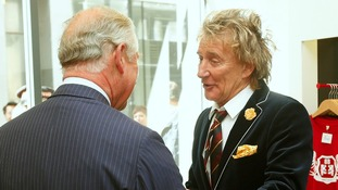 Rod Stewart apologises to the Prince of Wales after arriving late
