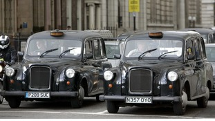 Black taxis in central London