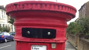One of the sealed post boxes in Tooting