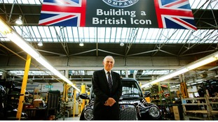 Vince Cable was in Coventry to mark the resumption of production of the iconic black cab