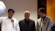 George Galloway celebrates Respect success