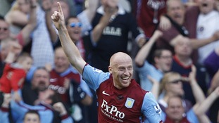 Aston Villa central defender James Collins.