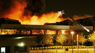 August 2011: Fire destroys a Sony warehouse in Enfield