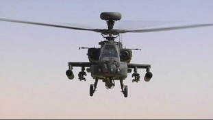 A Wattisham based Apache attack helicopter
