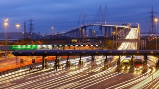 Queen Elizabeth II bridge and the Dartford Tunnel