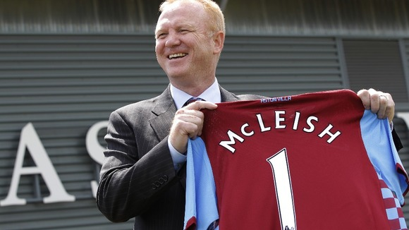 Aston Villa manager Alex McLeish.