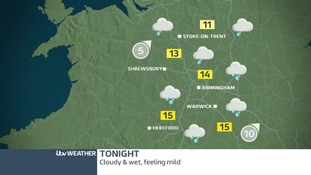 Rain will spread through the region from teatime onwards