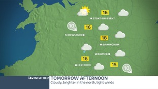 Cloudy with outbreaks of rain in the South-West