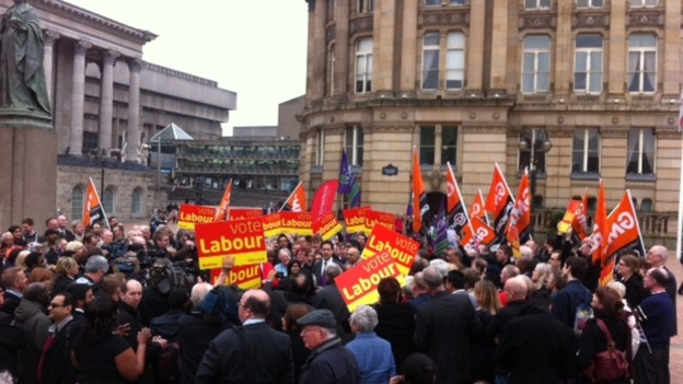 Ed Miliband arrives in Birmingham