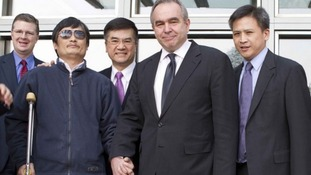 Activist Chen Guangcheng with US Assistant Secretary Campbell and US Ambassador Locke