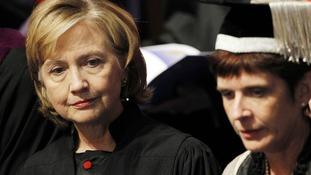 Clinton with university principal and vice-chancellor Professor Louise Richardson