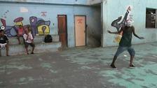 Kids dancing Passinho in a favela in Rio de Janeiro