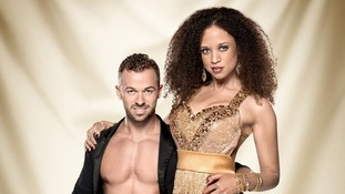 Contestants Artem Chigvinstev and Natalie Gumede.