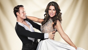 Contestants Kevin Clifton and Susanna Reid.