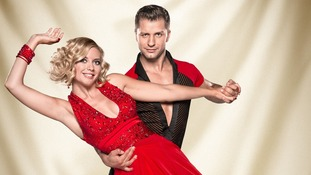 Contestants Rachel Riley and Pasha Kovalev.