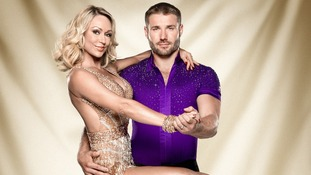 Contestants Kristina Rihanoff and Ben Cohen.