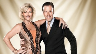 Contestants Anton Du Beke and Fiona Fullerton.