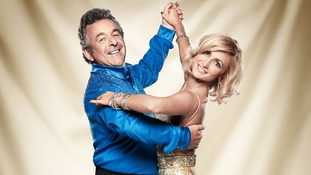 Contestants Aliona Vilani and Tony Jacklin.