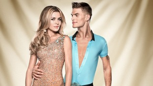 Contestants Abbey Clancy and Aljaz Skorjanec.