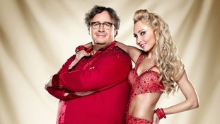 Contestants Mark Benton and Iveta Lukosiute.