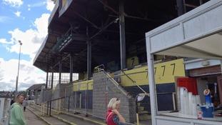Fans arrive at Maesteg RFC