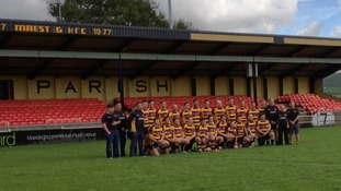 Maesteg RFC pose for photo