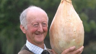 Peter Glazebrook with his 7kg  onion