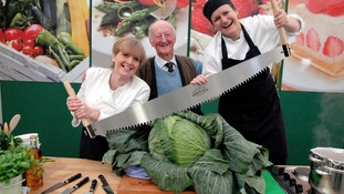 Peter's giant cabbage was also a winner at the Harrogate Autumn Show