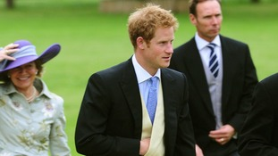 Prince Harry attends the wedding James Meade and Lady Laura Marsham.