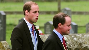 The Duke of Cambridge attends the wedding James Meade and Lady Laura Marsham at her family home in Gayton, Norfolk.