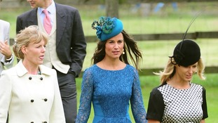 Pippa Middleton was among the guests at the parish church of St Nicholas in Gayton, near Kings Lynn.