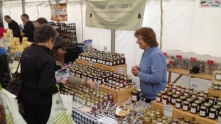 Local jams and cheeses were among the foods on offer