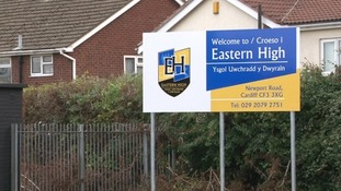 Eastern High School sign