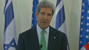 US Secretary of State John Kerry briefed Israeli Prime Minister Benjamin Netanyahu.