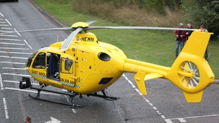 Air ambulance lands in Sudbury
