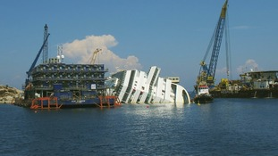 Cruise ship the Costa Concordia capsized on January 13 last year.