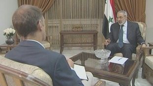 Omran al-Zoubi said Syria 'is a country that respects and honours what it says'.