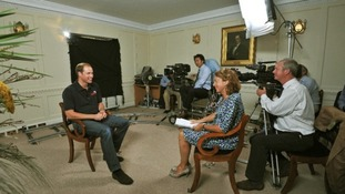 Prince William being interviewed for the ITV documentary at Kensington Palace.