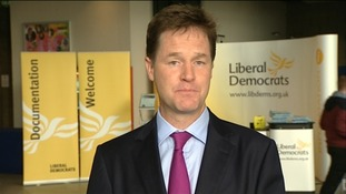 Nick Clegg played down rumours of a split with the Business Secretary speaking to Daybreak.